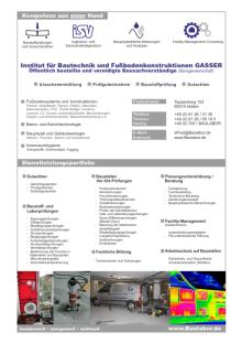 Institut für Bautechnik und Fußbodenkonstruktionen Gasser - Imagebroschüre